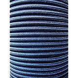 10m expandertouw 6mm zwart rubberen touw dekzeil spankabel elast. zeildoek.