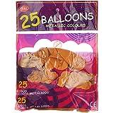 كيس بالونات، 25 قطعة - ذهبي
