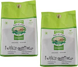 Elworld Organic Brown Sugar- 1kgX2 (Pack of 2)