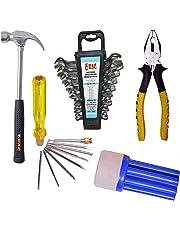 KAG 4 PC Steel Home Tool Set (19 Tools, Multicolour)