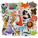 Zestaw Products najlepsze naklejki! Opakowanie 50 naklejek ze zwierzętami - naklejki winylowe - różne zwierzęta i zwierzęta d