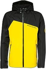 Borussia Dortmund Regenjacke für Kinder, Schwarzgelb, Polyester, 92/98 bis 176, Schriftzug, Reflektoren, Reißverschlüsse (Gelb)