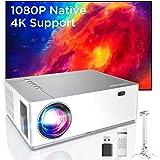Bomaker Proiettore 7200 Lm, Videoproiettore Supporta 4K Nativo Full HD1080P, ± 50° Correzione Trapezoidale Zoom, 300''Display