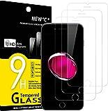 """NEW'C Lot de 3, Verre Trempé pour iPhone 7 et iPhone 8 (4.7""""), Film Protection écran - Anti Rayures - sans Bulles d'air…"""