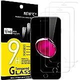 """NEW'C 3 Pezzi, Vetro Temperato Compatibile con iPhone 7 e iPhone 8 (4.7""""), Pellicola Prottetiva Anti Graffio, Anti-Impronte,"""