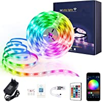 XERGY Led Strip Lights with Power Supply Color Changing 5050 RGB 150 LED's Rope Light Strips Kit for Bedroom, Home, DIY…