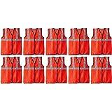 FABTEC Reflective 2 PVC Safety Jacket Orange Fabric Type (Set of 10)