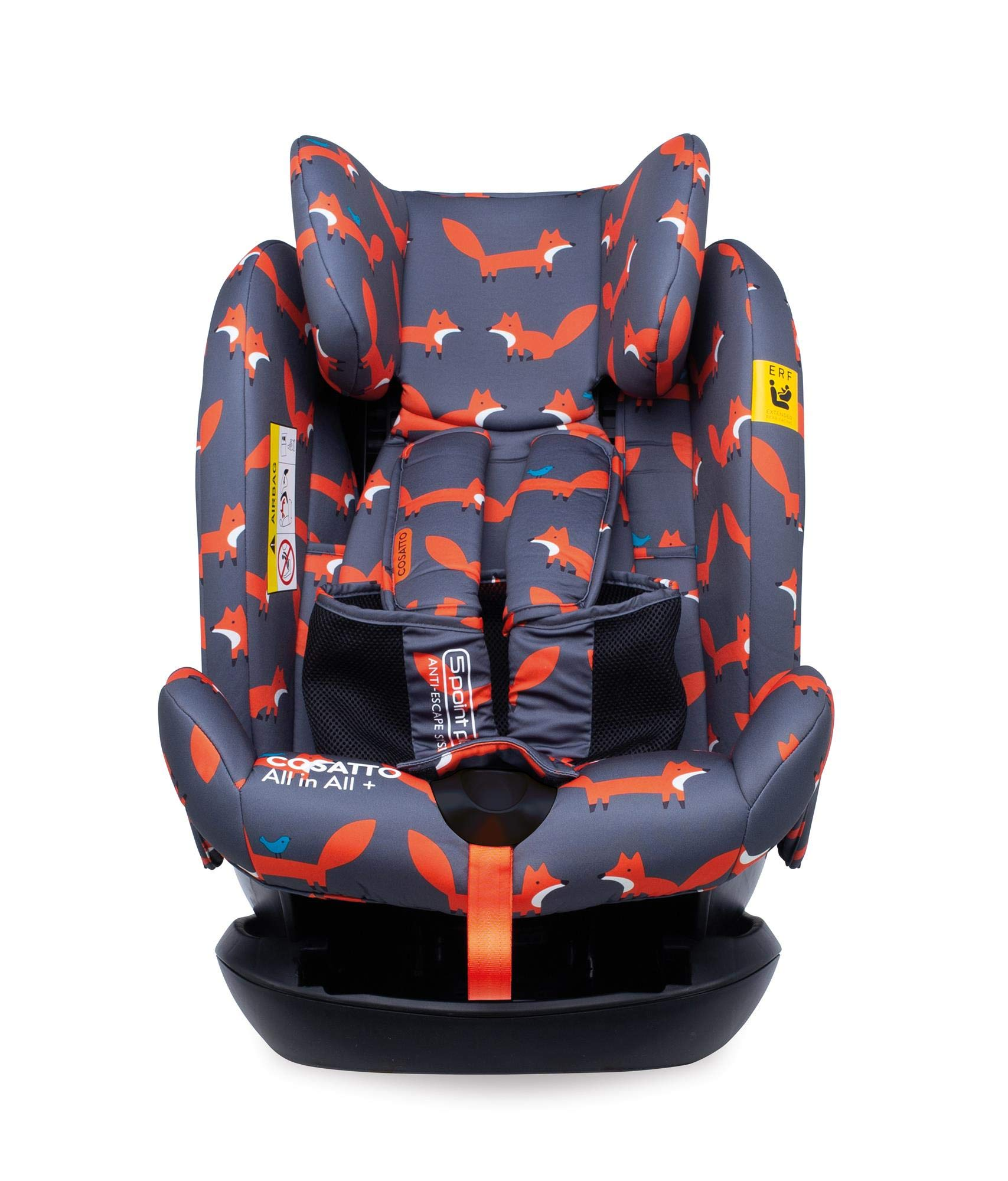 Cosatto CT4241 All in All + Group 0+123 Car Seat Mister Fox 8.9 kg Cosatto Extended rear facing Suitable for all stages Extra security 8
