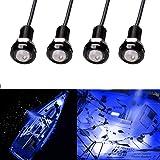 Electrely Luces de Navegación para Barcos, 4 Piezas 12V Luces Interiores LED Lámpara de Navegación Luz de Anclaje Barco Yate