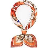 JIN - Sciarpa in seta da donna, 100% seta, 65 x 65 cm, sciarpa, scialle in seta