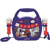 Lexibook- Spiderman-Lecteur Musical karaoké Portable pour Enfant avec micros et Effets Lumineux, Bluetooth, USB…