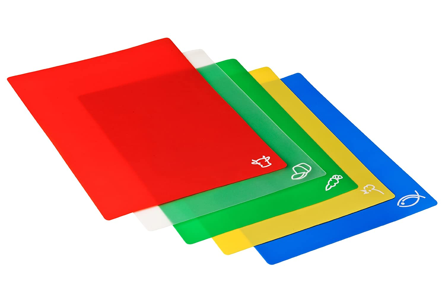 The item for sale is premier set of 5 coloured flexible chopping - Premier Housewares Flexible Chopping Mats Set Of 5 Amazon Co Uk Kitchen Home