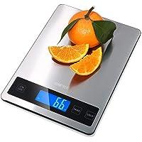 Bilancia Cucina Digitale  Homever 15kg in Acciaio Inossidabile Bilancia Cucina Pannello 9   6 3 Inch Bilancia da Cucina con 5 Measuring Units e Precisione 1g