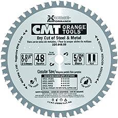 "CMT 226.048.08 Industrial Dry Cut Steel Saw Blade, 8-8-1/4"" x 48 Teeth TCG Grind with 5/8"" Bore"