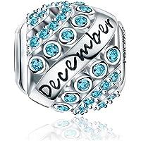 FOREVER QUEEN Charms Naissance pour Bracelet - Breloques Ajourés de Perles en Argent Sterling 925, Charms Joyeux…