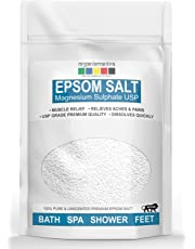 Organix Mantra Epsom Bath Salt For Muscle Relief, Relieves Aches & Pains, 1Kg