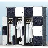 JOISCOPE Armoire Penderie, Meuble de Rangement, Armoire Portable pour Les Chambres, Armoire Modulable en Plastique avec Tiges