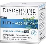 Diadermine - Lift+ Algo Retinol - Crème Visage Soin de NuitGobal Anti-Rides - Criste Marine et Extrait d'Algues - Hydrate et