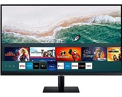 Samsung LS27AM502NRXEN - Monitor Samsung Smart M5 de 27'' Full HD, 1920x1080, Altavoces, Conectividad Móvil, Mando a Distanci