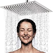YOMYM High Pressure Fixed Mounting Rain Shower Head-8 Inch / 20cm Large Square 304 Stainless Steel Spray Shower - 1/2 '' Con