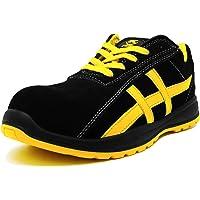 K•Shoes - Chaussure de sécurité Baskets de sécurité en Cuir Souple antidérapante Embout Acier S1 SRC (HRO 80°) Modèle…