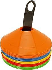 CampTeck U6859 Confezione da 50 Pezzi Coni Allenamento Coni Sport Plastica Mini Cono Segnalatore Spaziale Calcio, Agilità, Sp