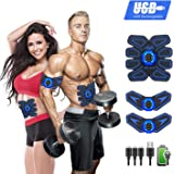 YOMYM Stimulator Muscle Toner Rechargeable Muscle Trainer Ultimate Abs Stimulator for Men Women Abdominal Work Out Ads Power