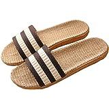 Pantofole Donna Antiscivolo Pantofole Uomo Lino Unisex Sandali Scarpe Piatte Ciabatte Scarpe da Spiaggia Estate Primavera Aut