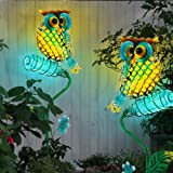 2x LED Außen Solar Lampen Figuren Dekoration Hasen Eichhörnchen Garten Leuchten