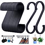 ACMETOP S haken, set van 12 S-vormige haken, S haken voor hangende potten en pannen, planten, koffiekopjes, kleding, handdoek