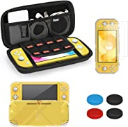 iAmer Accessories Kits for Nintendo Switch Lite 5 in 1, include Protective Carrying Case,TPU Protective Back Cover and 2pcs