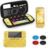 iAmer Case for Nintendo Switch Lite 5 in 1 Accessories Kits,include Protective Carrying Case,2pcs Tempered Screen…