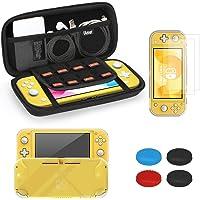 iAmer Kit accessori per Nintendo Switch Lite, Custodia per Nintendo Switch Lite, Cover in Cristallo Trasparente,9H Vetro…