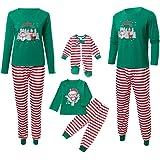 Homebaby Famiglia Pigiama di Natale Mamma papà Neonato Bambino Bebè Costume Striscia Babbo Abiti Tuta 2PC Uomo Donna Vestiti