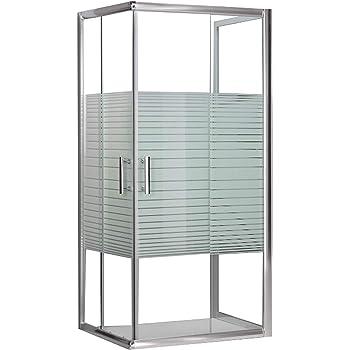 duschkabine 3 seiten aus kristallglas siebdruck 5 mm katariina 80x80x80 cm baumarkt. Black Bedroom Furniture Sets. Home Design Ideas