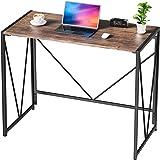 NOBLEWELL Bureau, Table Pliant sans Assemblage, Bureau d'Ordinateur pour Bureau Maison, Bureau industriel 100 x 50 x 75 cm, F