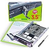 WORKDONE Vassoio Caddy da 3,5 Pollici per Disco Rigido -per Server PowerEdge dell 11°-13° Generazione - Adattatore a…