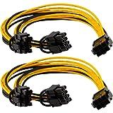 Xhwykzz 6 pines PCIe-2 x PCIe 8 (6 + 2) pines placa base gráfica tarjeta de vídeo PCI-e divisor cable de extensión de aliment