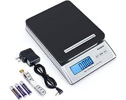 MUNBYN Pèse lettres/Pèse colis Numérique 30 kg/66lb Postal scale USB Précision 1g Écran LCD Rétroéclairé Fonction de Tare écr