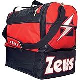 ZEUS BORSA GAMMA UNISEX SPORT BAG 52 x 52 x 36 cm GYM ZWEMBAL BASKETBAL (BLACK RED)