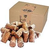 100 nieuwe wijnkurken - ambachtelijke kurken in een doos - kurken - ook voor het kurken van wijn of decoreren - fleskurken al