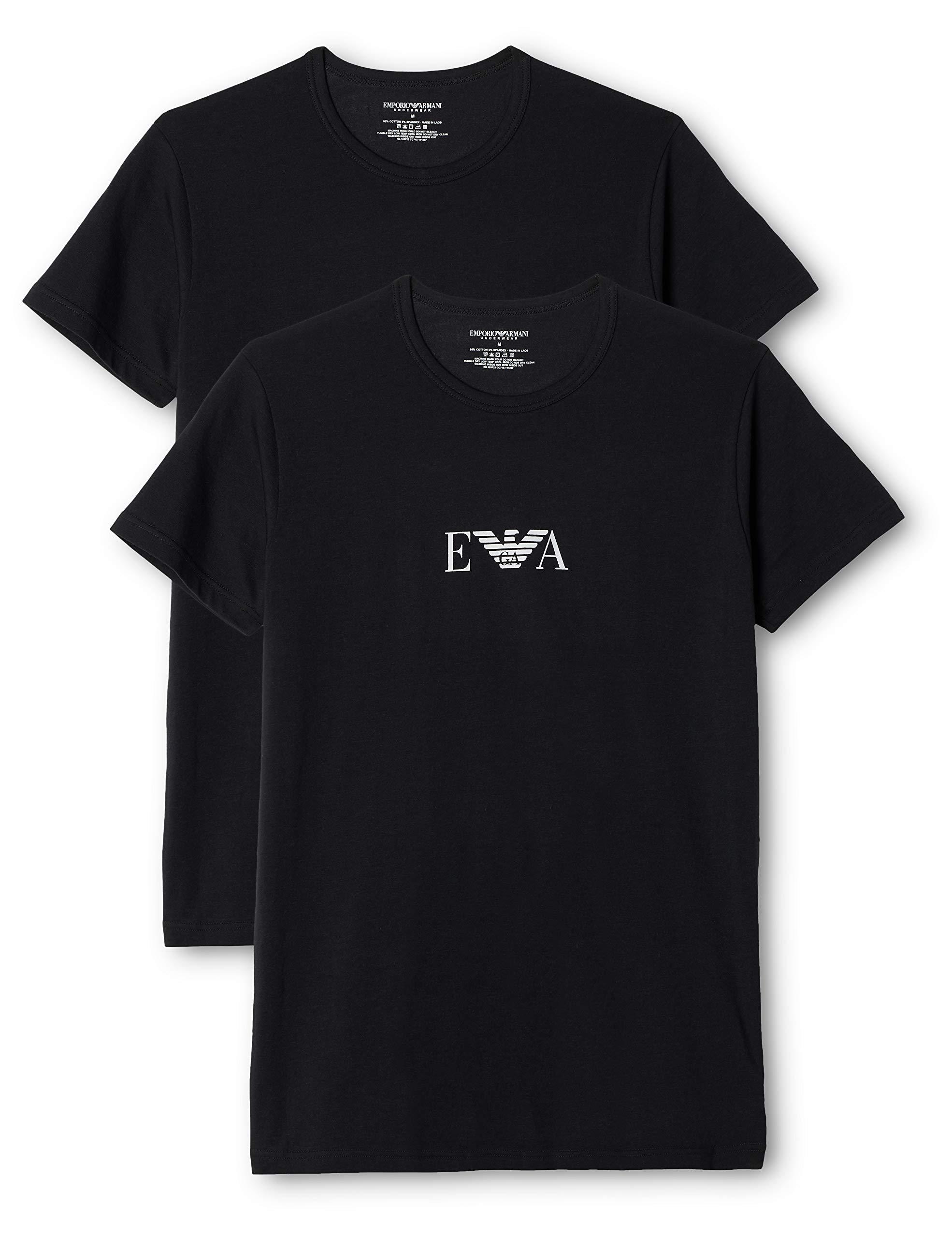 Emporio Armani, T-Shirt Uomo, set da 2 pezzi 1 spesavip