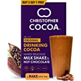 Christopher Cocoa, Drinking Chocolate Cocoa Powder, Dark No Sugar, 100g Buy 3 Get 1 Free