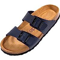 Palado® Damen Sandale Samos in vielen Farben | Made in EU | Pantoletten mit Natur Kork-Fussbett und samtig weichem…