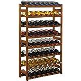 "Wijnrek / flessenrek systeem ""Simplex"" model 3, voor 56 fl., hout, grenenbruin gebeitst"