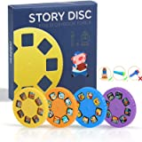 Story Disc 4 Fairy Tales Movies 32 Slides for Story Projection Torch Story Film Replacement for Kids Sleep Story…