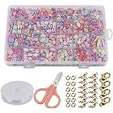 CODIRATO 24 Arten Bunte DIY Armband Handwerk Stringing Perlen, Mädchen Spielzeug,DIY Perlenschmuck für Basteln von Schmuck Ketten und Armbändern,kein Verblassen