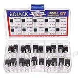 BOJACK 10 valores 50 piezas IRFZ44N IRF510N IRF520N IRF530N IRF540N IRF640N IRF740 IRF840 IRF3205 IRF9540 Kit de surtido de t