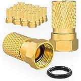 2X Gummit/üllen von HB-DIGITAL 2X F-Stecker 7mm Vergoldet breite Mutter HQ f/ür Koaxial Antennenkabel Sat Kabel BK Anlagen SAT Zubeh/ör Set