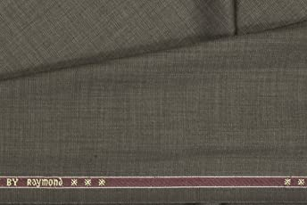 Raymond Men's Unstitched Fabric Trouser (Brown, 1.2m)